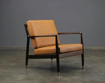 Mid Century Modern Lounge Chair Folke Ohlsson Dux Danish