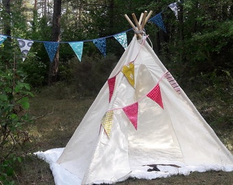 Big Teepee Tent Natural White. Tipi Tent. POLES NOT INCLUDED.