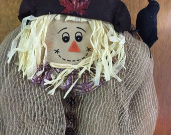 Decomesh scarecrow wreath
