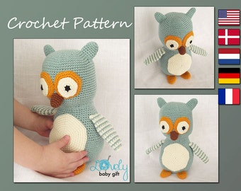 Amigurumi Pattern, Crochet Owl Pattern, Stuffed Animal Pattern, CP-123