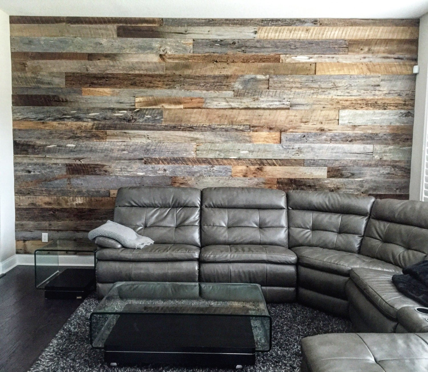 Reclaimed wood wall accent kits Reclaimed woods