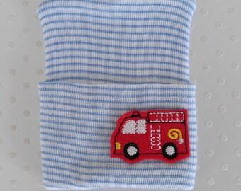 Newborn Fire Truck Hat- baby boy Fireman hat-newborn fireman hat-infant firetruck beanie-baby firetruck hat