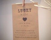 50 Personalised scratch card wedding favour envelope