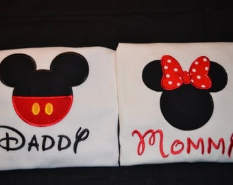 Mickey and Minnie Shirts for the entire family!!