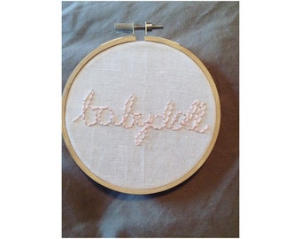 Babydoll Cursive Text Hand Embroidery