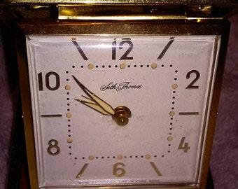 Seth Thomas Alarm Clock Tripette 3852