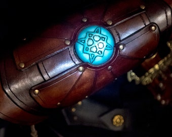 Alchemist  bracer- Glow in the dark bracer armor for LARP, action roleplaying and cosplay