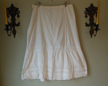 Very Vintage Antique Cotton Half Slips and Nightgown All one Price