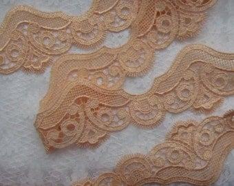 Salmon colored lace