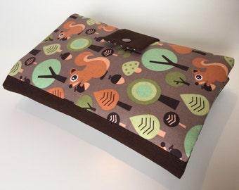 Diaper Bag / Clutch 'Squirrels' brown