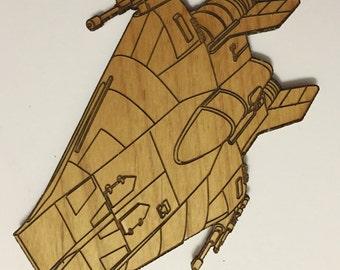 Star Wars A-Wing Wooden Fridge Magnet