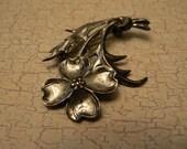 Vintage Lang Sterling Silver Dogwood Brooch or Pin *REDUCED*