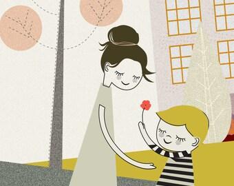 Flower to my Mum, Nursery Wall Art, Printable Quote Art, Kids Room Decor, Nursery Quotes, Printable Nursery, DIGITAL DOWNLOAD ART