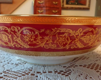 Chfield Haviland Limoges Fruit Bowl / Gold Gild China/ Limoges China / Bridal Shower Gift China