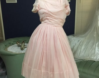 Peachy Pink Chiffon Party Formal Dress