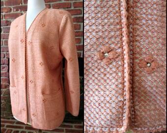 Christian A Sweater /Christian A jacket/ fits M / Socialite Knit Jacket /Adolfo protege