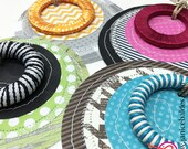 Whimsical Circles Gift Tags   Set of 4