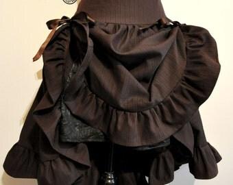 Skirt stripe brown steampunk