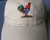 Colorful Rooster on Tan B...