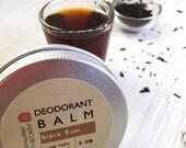 Natural Deodorant, Aluminum Free Deodorant, Natural Deodorant For Men, Deodorant Balm, Unisex, BLACK RUM, 2oz