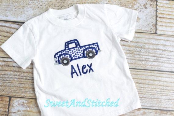 Boys Truck shirt personalized, boys Truck tee, baby boys monogrammed shirt - boys personalized truck shirt