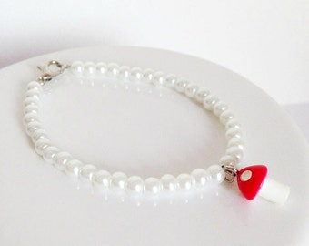 Woodland Toadstool Pearl Bracelet