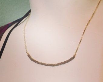 Purple/gray crystal necklace