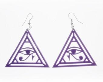 Pastel eye of Horus earrings