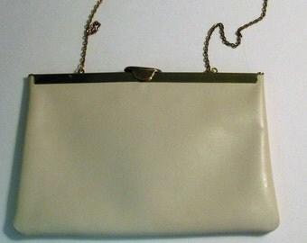 Etra Handbag Genuine Tan Leather Purse Evening Bag Clutch