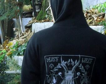 Occult Evil Goat Black Ritual Metal Hoodie