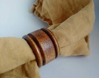 Vintage Wooden Napkin Rings