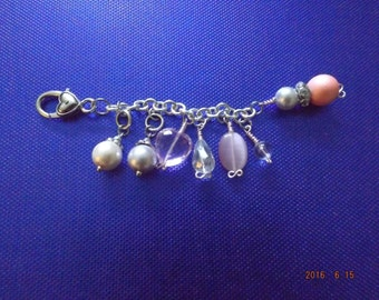 A Touch of Pearl Pink Jesse James Purse Charm