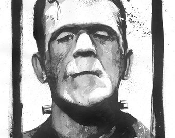 Frankenstein Sketch by Gary Deslauriers
