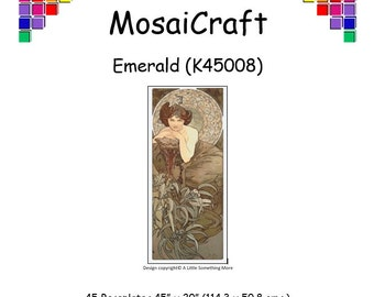 MosaiCraft Pixel Craft Mosaic Art Kit 'Emerald' (Like Mini Mosaic and Paint by Numbers)