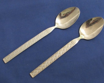 Vintage FRONTIER AIRLINE SPOONS Set of 2