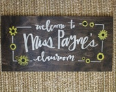 wooden hand painted teacher sign gift