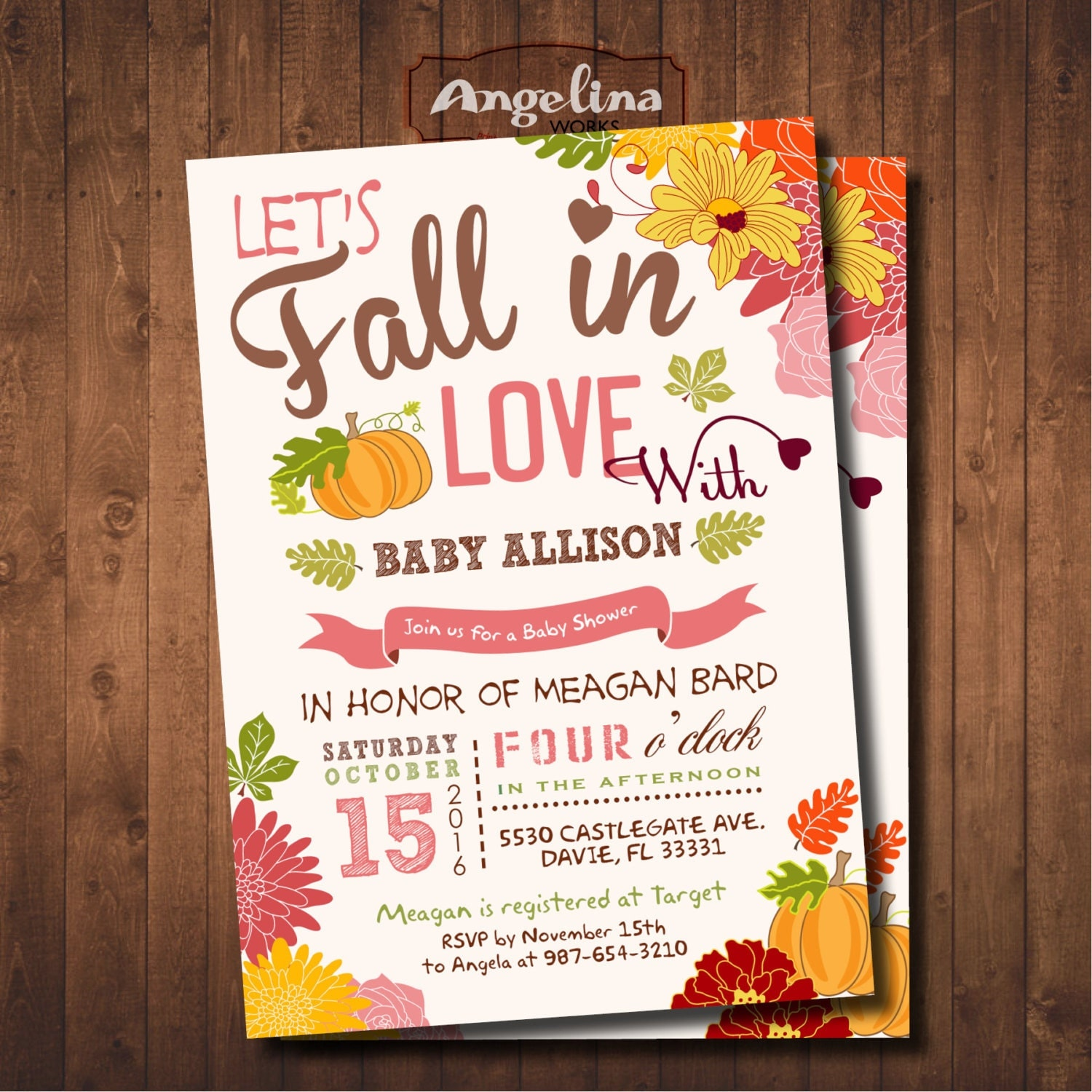 fall baby shower invitation little pumpkin baby shower diy