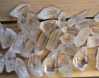 Clear Quartz Points, Small, Healing Stone, Healing Crystal, Spiritual Stone, Meditation, Chakra