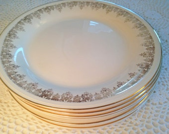 Edwin M. Knowles Dinner Plates - Set of 7