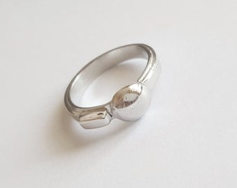 sterling silver ball ring