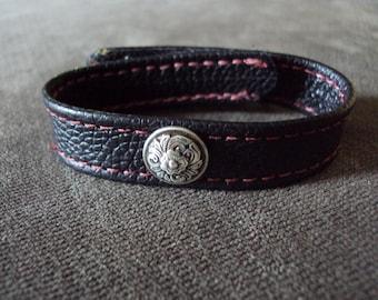 Concho Bondage Cock & Ball Ring Leather Slave Bracelet Fetish Jewelry BDSM Mature