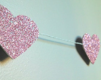 Heart Garland, large/pink
