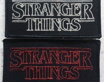 Stranger Things patch 80's sci-fi horror Goonies