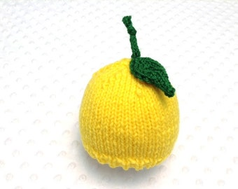 Lemon Hat - Lemon Baby Hat - Lemon Toddler Hat - Lemon Newborn Hat - Newborn Photo Prop - Lemon Photo Prop