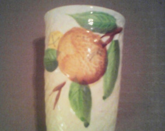 Vintage JUICE cup. Made in Japan from 1940's. Features orange.