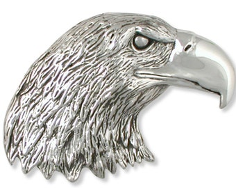 Eagle Belt Buckle Handmade Sterling Silver Wildlife Jewelry EA2-BK