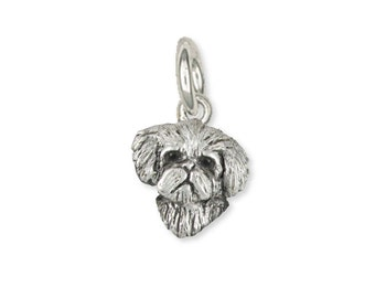 Maltese Dog Charm Jewelry Sterling Silver Handmade  ML16H-C