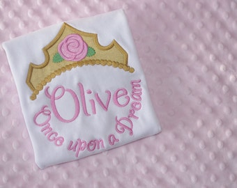Princess Tiara Monogrammed Shirt- Aurora- Sleeping Beauty