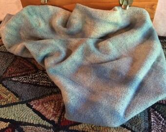 Hand-Dyed Wool Fabric, September Sky Blue, Fat Quarter Yard W225