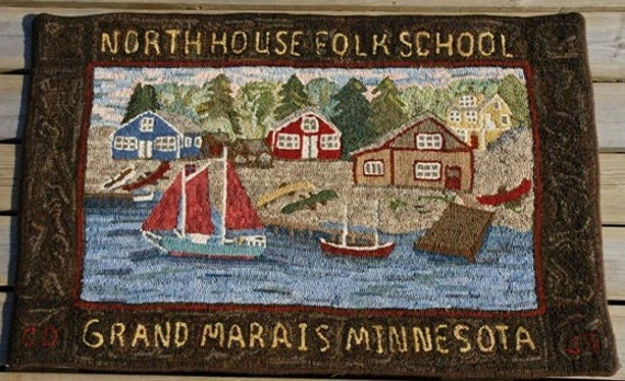 "Rug Hooking Pattern, ""North House Folk School"" 28""x 44""  P126"